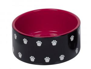 """NOBBY """"Pata"""" - keramikas bļoda dzīvniekiem, melna"""