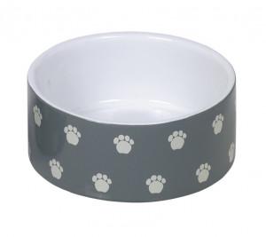 """NOBBY """"Pata"""" - keramikas bļoda dzīvniekiem, pelēka"""