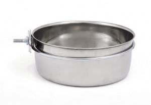 Beeztees ''Coopcup'' - pieskrūvējama metāla bļoda suņiem