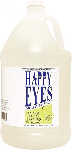 CHRIS CHRISTENSEN Happy Eyes Tearless 2 in 1 Shampoo - šampūns suņiem un kaķiem 3,78 L
