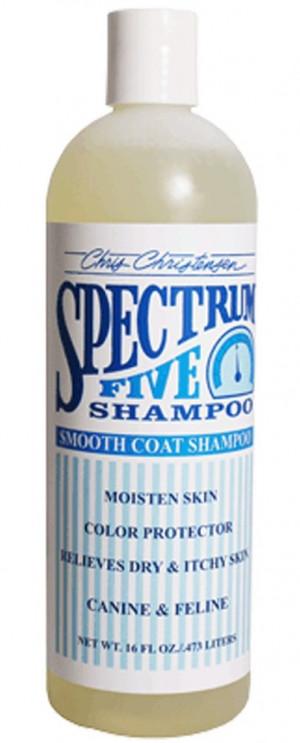 CHRIS CHRISTENSEN Spectrum 5 Shampoo - šampūns suņiem un kaķiem 473ml
