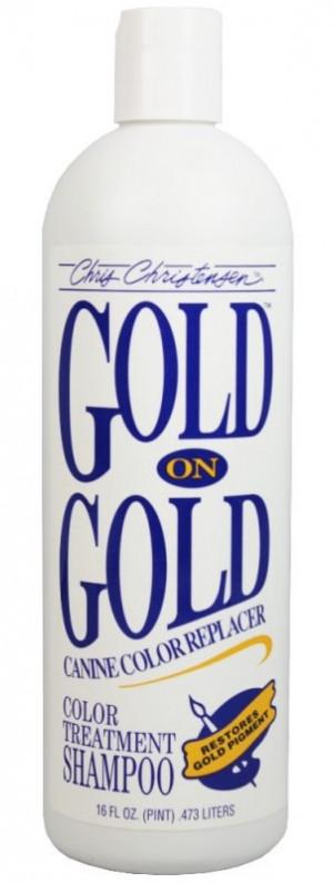 CHRIS CHRISTENSEN Gold On Gold Shampoo - šampūns suņiem un kaķiem 473ml