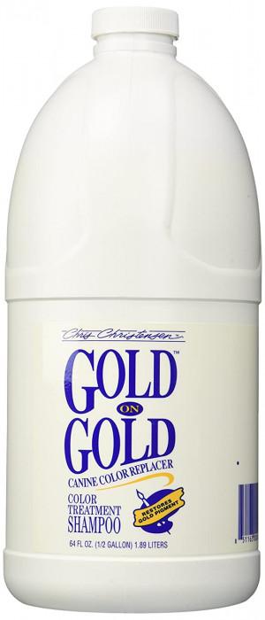 CHRIS CHRISTENSEN Gold On Gold Shampoo - šampūns suņiem un kaķiem 1,89 L