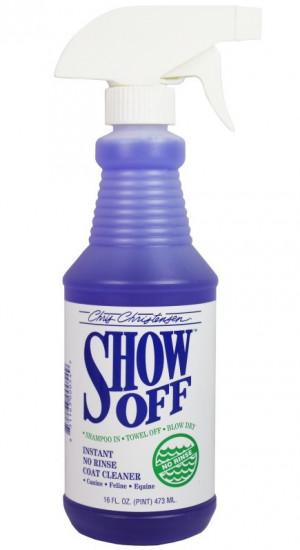 CHRIS CHRISTENSEN Show Off No Rinse Cleaner - šampūns suņiem un kaķiem 473ml