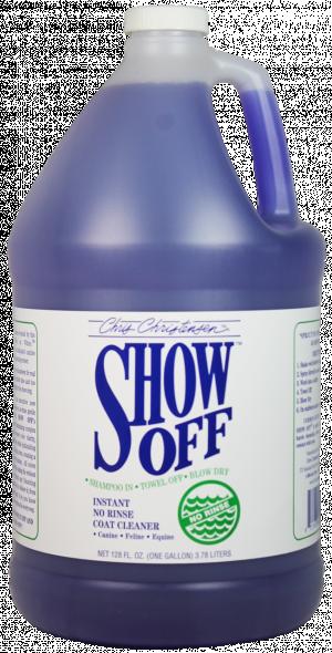 CHRIS CHRISTENSEN Show Off No Rinse Cleaner - šampūns suņiem un kaķiem 3,78 L