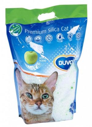 Duvo+ Silica Cat Litter Scent Apple - smiltis kaķu tualetei, ar ābolu aromātu 5L