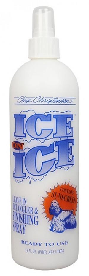 CHRIS CHRISTENSEN Ice On Ice RTU Leave-In Finishing Spray - izsmidzināms kondicionieris suņiem un kaķiem 473ml