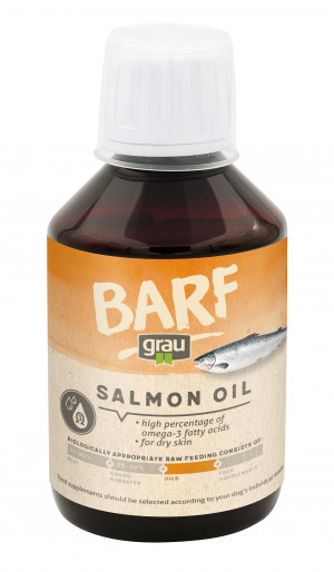GRAU Barf Salmon Oil - papildbarība suņiem 200ml