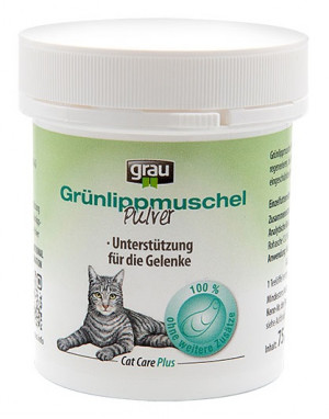 GRAU Cat Care Plus Mussel Powder Extract - papildbarība kaķiem 75g