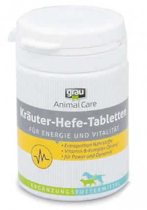 GRAU Animal Care Herbal Yeast Tablets - papildbarība suņiem un kaķiem 75 tab.