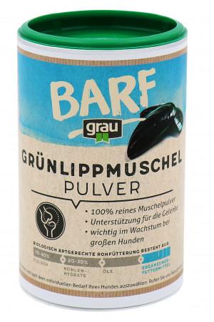 GRAU Barf Green Lipped Mussel Powder - papildbarība suņiem 170g