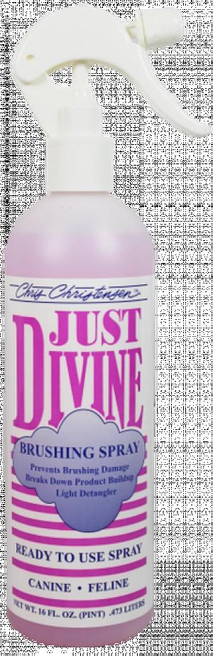 CHRIS CHRISTENSEN Just Divine RTU Brushing Spray - apmatojuma kopšanas līdzeklis suņiem un kaķiem 473ml