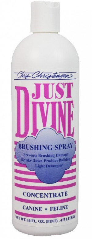 CHRIS CHRISTENSEN Just Divine Brushing Spray Concentrate - apmatojuma kopšanas līdzeklis suņiem un kaķiem 473ml