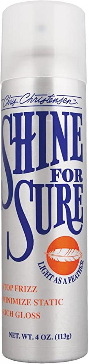 CHRIS CHRISTENSEN Shine For Sure Spray - veidošanas līdzeklis suņiem un kaķiem 113g
