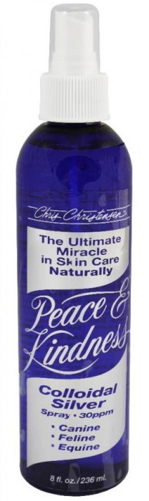 CHRIS CHRISTENSEN Peace & Kindness Colloidal Silver Spray - ādas infekciju kontrolei suņiem, kaķiem un zirgiem 118ml