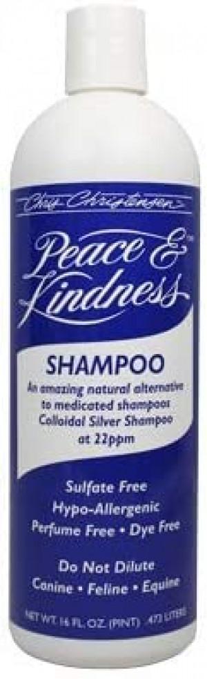 CHRIS CHRISTENSEN Peace & Kindness Colloidal Silver Shampoo - šampūns suņiem, kaķiem un zirgiem 473ml
