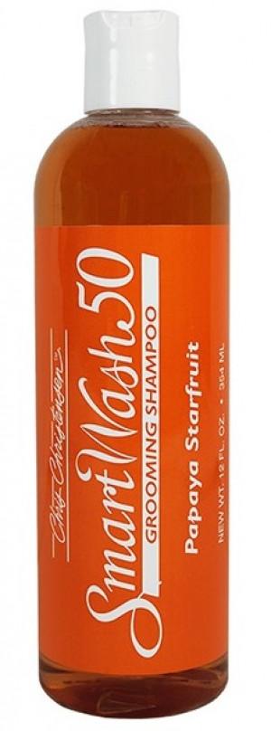 CHRIS CHRISTENSEN Smart Wash 50 Papaya Starfruit Grooming Shampoo - šampūns suņiem un kaķiem 354ml