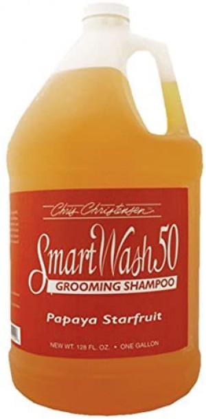CHRIS CHRISTENSEN Smart Wash 50 Papaya Starfruit Grooming Shampoo - šampūns suņiem un kaķiem 3,78L