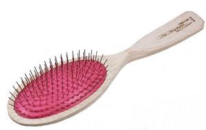 CHRIS CHRISTENSEN Breezy Brush Firm Large Oval Brush - ķemme suņiem un kaķiem, rozā 16mm