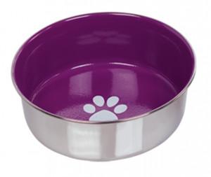 Nobby Heavy Paw anti-slip - metāla bļoda, violeta