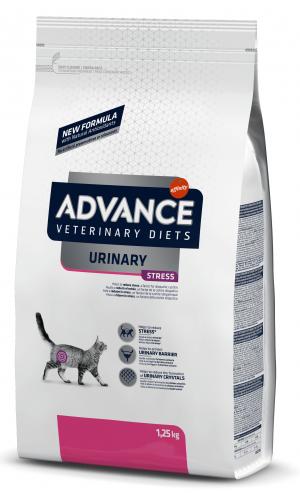 ADVANCE  VETERINARY CAT DIET URINARY STRESS sausā barība kaķiem 1,25 kg