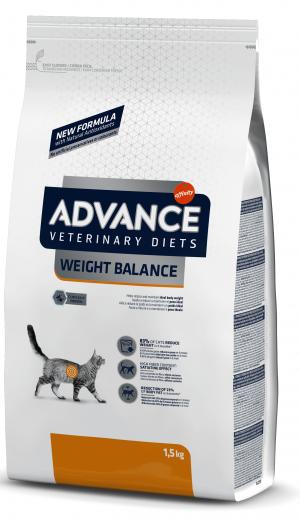 ADVANCE  VETERINARY CAT DIET WEIGHT BALANCE sausā barība kaķiem 1,5 kg