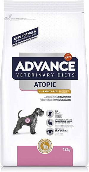ADVANCE VETERINARY DIETS ATOPIC sausā barība suņiem 12kg