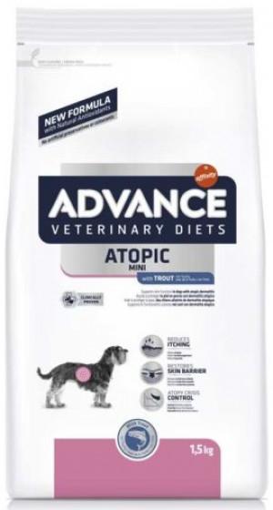 ADVANCE VETERINARY DIETS ATOPIC MINI sausā barība suņiem 1,5 kg