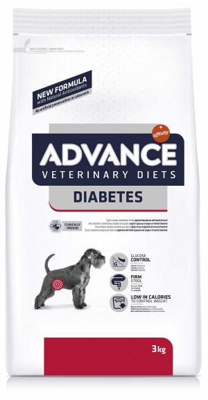 ADVANCE VETERINARY DIETS DIABETES COLITIS sausā barība suņiem 3kg