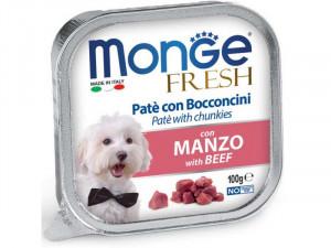 MONGE Fresh - pastēte suņiem ar liellopa gaļu 100g