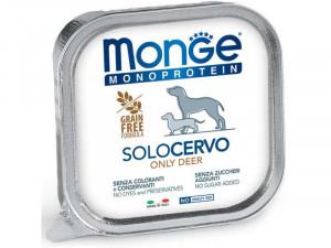 MONGE Monoproteinic - pastēte suņiem ar brieža gaļu 150g
