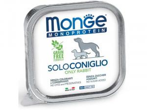 MONGE Monoproteinic - pastēte suņiem ar truša gaļu 6 x 150g