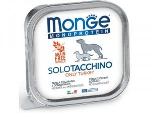 MONGE Monoproteinic - pastēte suņiem ar tītara gaļu 150g