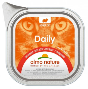ALMO NATURE Daily Cat With Beef - konservi kaķiem 12 x 100g
