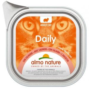 ALMO NATURE Daily Cat With Salmon - konservi kaķiem 12 x 100g