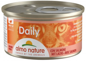 ALMO NATURE Daily Cat Mousse With Salmon - konservi kaķiem 12 x 85g