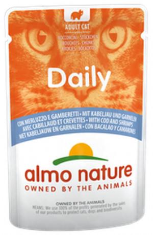 ALMO NATURE Daily Cat Code & Shrimps - konservi kaķiem 12 x 70g