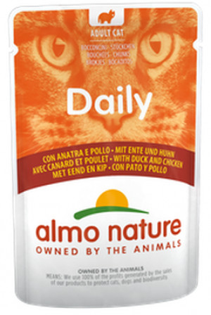ALMO NATURE Daily Cat Chicken & Duck - konservi kaķiem 12 x 70g