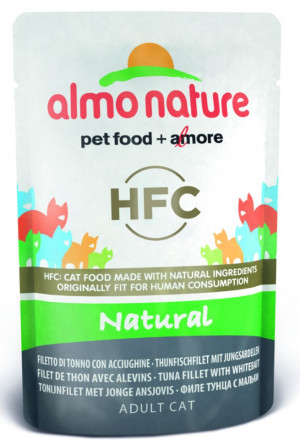 ALMO NATURE HFC Cat Natural Tuna & Whitebait - konservi kaķiem 12 x 55g