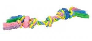 "NOBBY ""Cotton rope with rubber"" - rotaļlieta suņiem"