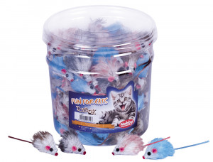 NOBBY Plush Mouse - rotaļlieta kaķiem 5cm