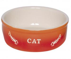 """NOBBY """"Gradient"""" - keramikas bļoda kaķiem, oranža"""