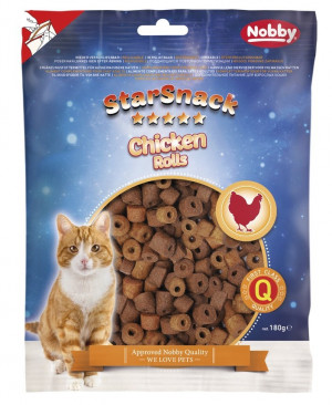 Nobby STARSNACK Cat Chicken Rolls - gardumi kaķiem 180g