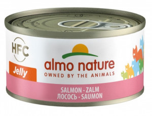 ALMO NATURE HFC Jelly Cat With Salmon - konservi kaķiem 12 x 70g