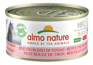 ALMO NATURE HFC Jelly Cat NATURAL MADE IN ITALY With Red Fillet Tuna - konservi kaķiem 12 x 70g