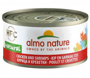 ALMO NATURE HFC Natural Cat With Chicken & Shrimps - konservi kaķiem 12 x 70g