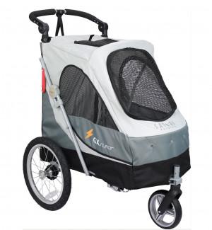 Petstro Medium 3-Wheel Buggy, Grey - rati mājdzīvnieku pārvadāšanai, pelēki
