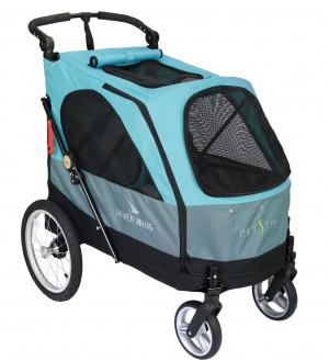 Petstro Large 4-Wheel Buggy, Turquoise/Grey - rati mājdzīvnieku pārvadāšanai, zili