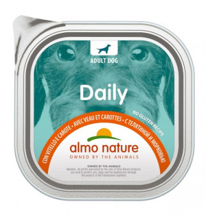 ALMO NATURE Daily Dog With Veal & Carrots - konservi suņiem 12 x 100g