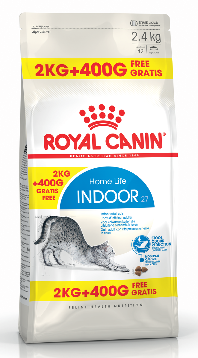 Royal Canin FHN Indoor Cat 2kg + 400g DĀVANĀ!